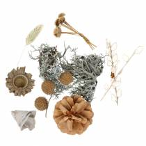 Autumn decoration mix as a handicraft set Dried Bleached 150g