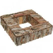 Deco tree bark square open pine bark autumn decoration 30 × 30cm