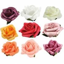 Foam-Rose Ø3,5cm different colors 48pcs