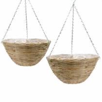 Flower basket rattan Ø35 / Ø40cm, set of 2