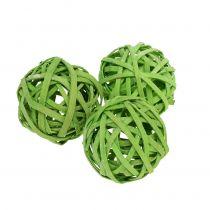Rattan Ball Spring Green Ø4cm 12pcs