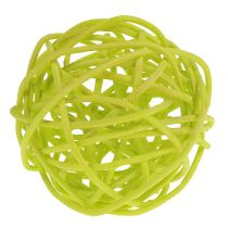 Rattanball Mix Ø5cm light green pale green bleached 30pcs.