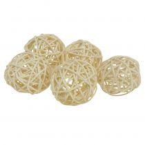 Rattan ball bleached Ø4cm 24pcs