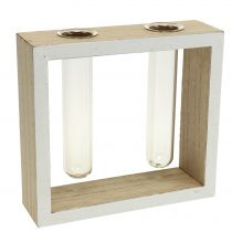 Test tubes in wooden frame 13cm x 12cm 2pcs