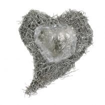 Vine heart washed white 16cm x 21cm 1p