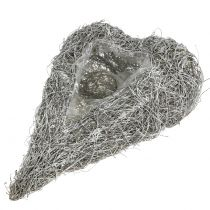 Vine heart for planting white washed 35cm x 23cm 1pc