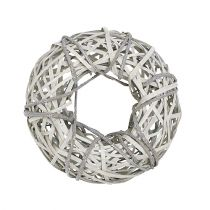 Bark wreath with willow small gray Ø28cm