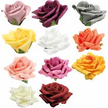 Foam-Rose Ø10cm different colors 8pcs