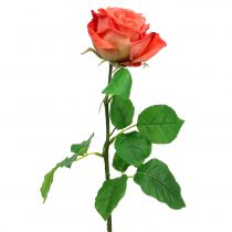 Rose artificial flower salmon 67,5cm