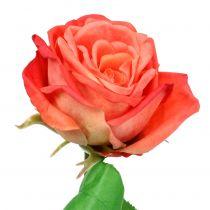 Rose artificial flower salmon 67,5cm