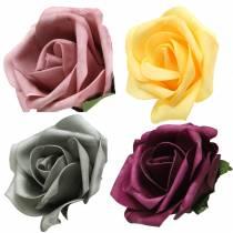 Foamrose foam rose colored Ø15cm 4pcs