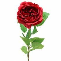 Rose artificial flower red 72cm