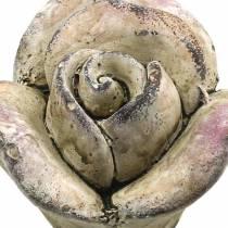 Concrete rose gray, violet Ø7.7 H5.5cm 3pcs