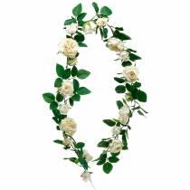 Romantic rose garland, silk flower, artificial rose tendril 160cm