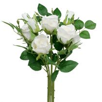 Rose Bouquet White L46cm