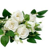 Rose Bouquet White L46cm