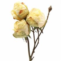 Artificial rose branch cream white 45cm
