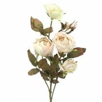 Artificial rose branch cream white 76cm