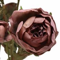 Rose branch artificial violet 76cm