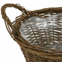 Round basket peeled about 20cm