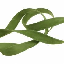 Velvet ribbon green 15mm 7m