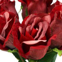 Velvet rose red Ø8cm L45cm 6pcs