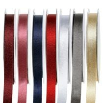 Satin ribbon with mica 10mm 20m