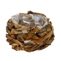 Shell pieces of wood nature Ø28cm H16cm