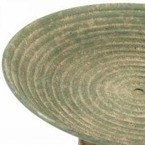 Bowl with foot, decorative bowl, metal vessel, antique look, Ø26cm H12cm