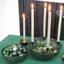 Deco bowl metal green table decoration Vintage Ø21cm