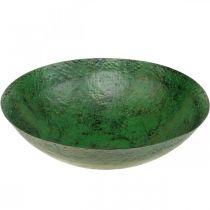 Decorative bowl large metal green vintage table decoration Ø42cm
