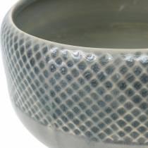 Ceramic vessel, bowl with basket pattern, plant bowl around Ø18cm