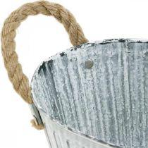Planter with handles, metal flower bowl, decorative bowl for planting L28cm
