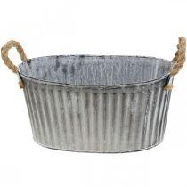 Bowl for planting, flower bowl with handles, metal planter L30.5cm