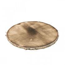 Decorative wood disc flamed Rustic wood decoration plywood Ø20cm