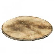 Decorative wood disc flamed coaster rustic plywood Ø25cm
