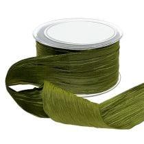 "Ribbon moss green ""Crash"" 50mm 20m"