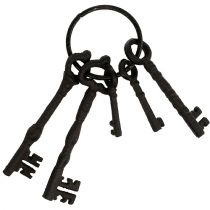 Keychain with metal ring Brown 7cm - 15.5cm