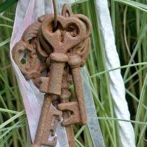 Keychain cast iron rust 36cm 5 pieces