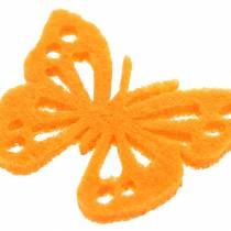 Felt butterfly table decoration Assorted 3.5 × 4.5cm 54 pieces Different colors