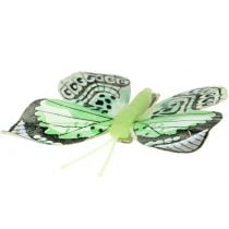 Decorative butterfly on the clip sorted 5cm - 8cm 10pcs