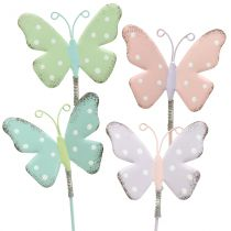Flower plug butterfly pastel 24cm 12pcs