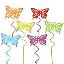 Flower plug butterfly colorful 22cm 12pcs
