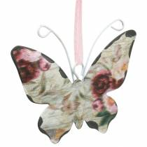Butterfly to hang metal decoration hanger 7cm spring decoration 12pcs