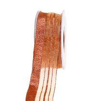 Jewelry tape with Lurexstreifen copper 40mm 20m