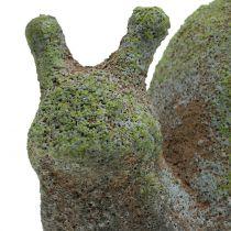 Garden figure snail mossed 31cm x 17cm H17cm