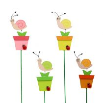 Snail in a pot 8,5cm L 28cm 16pcs