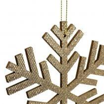 Snowflake Hanging Decoration Gold Ø8cm - Ø12cm 9pcs