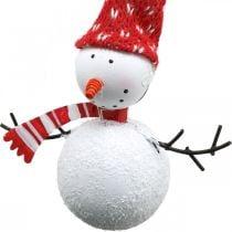 Christmas tree decorations snowman to hang metal 8.5 / 13cm 4pcs