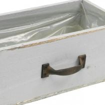 Planter wooden drawer Shabby Chic gray 25x13x9cm
